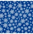 Christmas seamless pattern with white blue vector image vector image