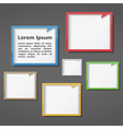 Colored Frames Design vector image vector image