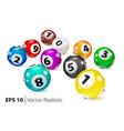 colorful bingo balls lie in random order vector image vector image