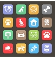 Colorful Pets icons set for web or mobile vector image vector image