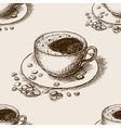 cup coffee hand drawn seamless pattern vector image