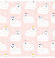 cute lapdogs seamless pattern on pink vector image vector image