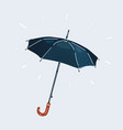 dark umbrella isolated on white vector image vector image