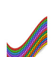 different colored rope vector image