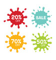 different sale tags isolated on white blot vector image vector image
