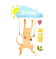 Dog Jumping Rope Kids Cartoon vector image