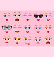 emoji faces for emoticon constructor vector image