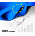 eu economics with the european union vector image vector image