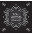 Fall Festival template posters Frame maple leaves vector image