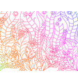 floral gradients colors lined artistically scene vector image vector image