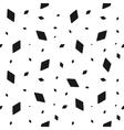 geometric grunge seamless pattern black rhomb vector image vector image