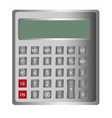 gray calculator isolated over white background vector image vector image
