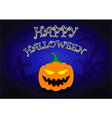halloween background with pumpkin head vector image vector image