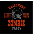 Halloween party poster with zombie head - vector image vector image