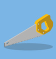 hand saw isometric vector image