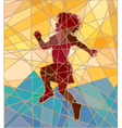 Happy girl mosaic vector image vector image