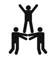happy teamwork icon simple style vector image
