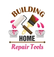 Home building and repair work tools icon vector image vector image