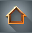house abstract 3d icon vector image vector image