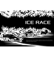 Ice race card vector image