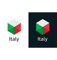 icon italian flag on black and white vector image vector image