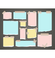 Important yellow and red notes organized office vector image vector image