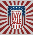 independence day sale shield with text vector image vector image
