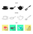 kitchen and cook symbol vector image