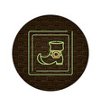 leather boot cartoon vector image