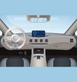 luxurious beige car interior vector image vector image