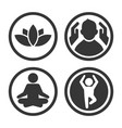 massage spa and yoga center icons set logo vector image