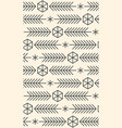 minimalistic linear new year pattern winter vector image vector image