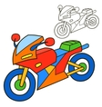 Motorcycle Coloring book page vector image