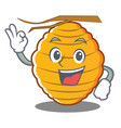 okay bee hive character cartoon vector image