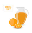 orange juice transparent glass jar orange vector image vector image