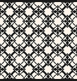 ornamental pattern with floral shapes mesh grid vector image