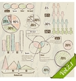 Retro set of infographic elements vector image vector image