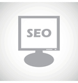 SEO grey monitor icon vector image vector image