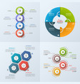 set 4 infographic templates with 4 options vector image vector image