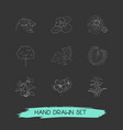 set of flora icons line style symbols with vector image vector image