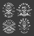 set of gangster emblems vector image vector image