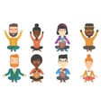 set of musicians and business characters vector image vector image