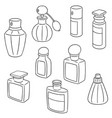 set of perfume bottle vector image vector image