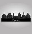 skyline florence vector image