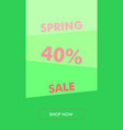 spring sale vertical banner green and rose vector image vector image