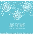 Template of greeting card with flowers vector image vector image