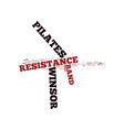 the power of winsor pilates resistance band text vector image vector image