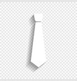 tie sign white icon with vector image vector image