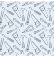 Tools seamless line pattern vector image vector image