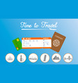 travel agency horizontal banner template vector image vector image